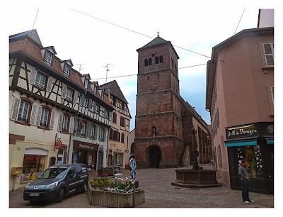 Radtour von Saarbrücken nach Straßburg: Kirche in Saverne