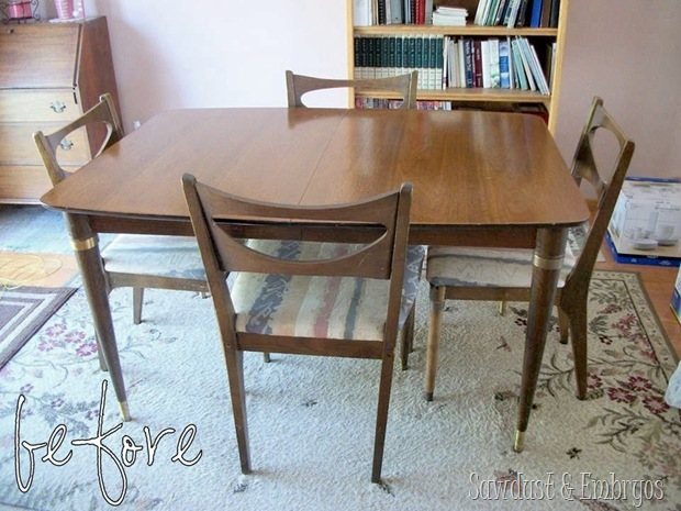 50's dining set (before pic) Sawdust and Embryos