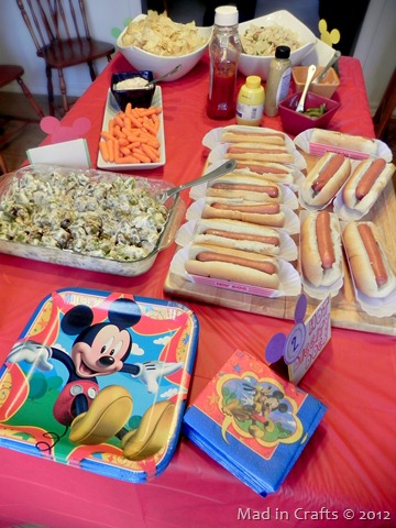 mickey party food