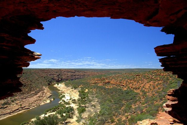 Looking through the archway Kalbarri national park