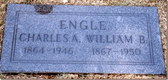William and Charles Engle Grave Marker