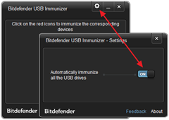 Bitdefender USB Immunizer - Settings