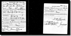 William Samurl Brock WWI Draft Card