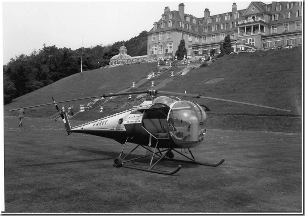 The first Durham Constabulary Helicopter