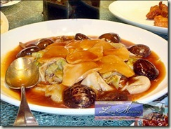 Braised slice japanese and abalone mushroom, oyster sauce