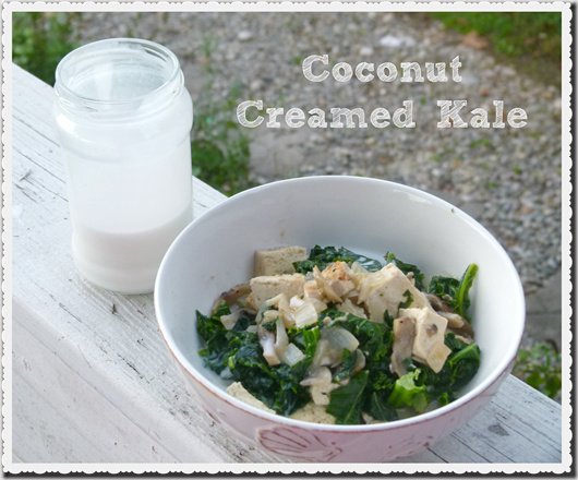 coconut creamed kale