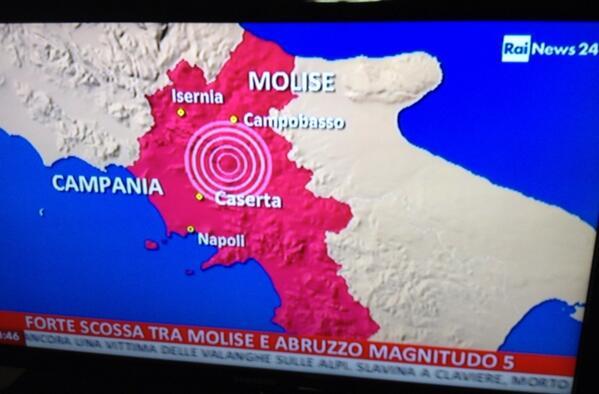 Sciame sismico nella notte in Campania, nessun ferito