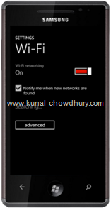 WP7 Settings Page - WiFi