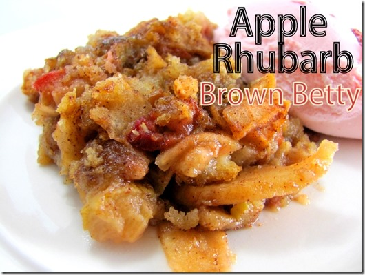 apple rhubarb brown betty