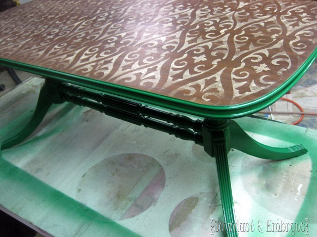 Stenciled & Stained Coffee Table by SAWDUST & EMBRYOS