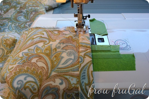 Sewing Pillow Back Hem