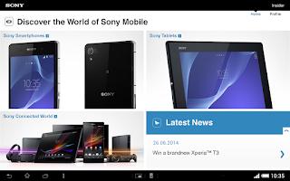 Screenshot of Sony Insider