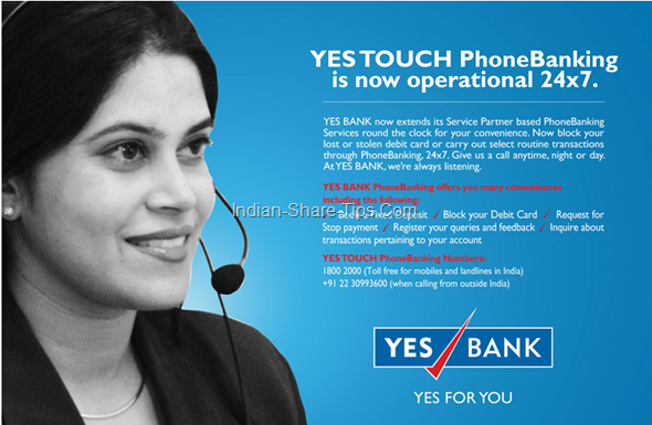 Yes bank phone banking