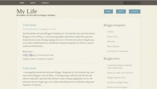 My life blogger template 225x128