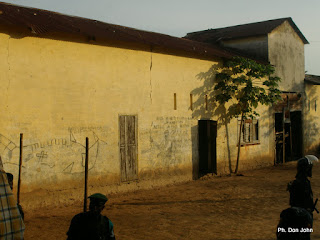 Une vue de la prison de Lodja, lors d'une visite des quelques responsables des agences des Nations unies le 18/1/2003. Ph- Don John