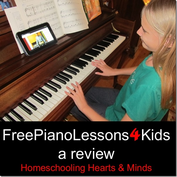 FreePianoLessons4Kids review at Homeschooling Hearts & Minds