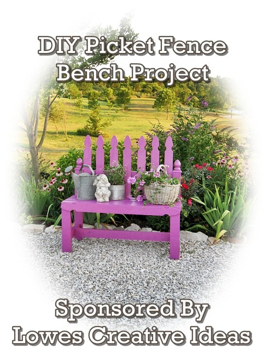 Creative Country Mom's Garden: My DIY Picket Fence Bench, A Lowes
