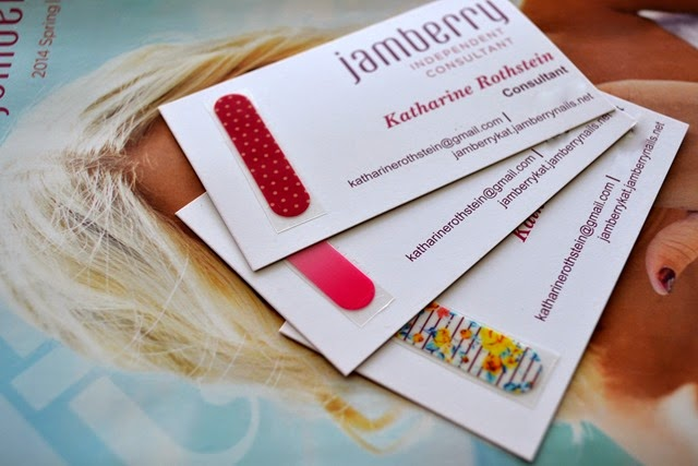 Jamberry nail wraps review and first impressions cosmetic proof only the cutest business cards in the world as each has a one nail wrap attached thats enough for an accent nail on each hand since each nail wrap reheart Choice Image