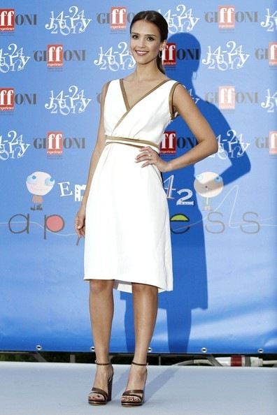 Jessica Alba receives the Giffoni award while attending the 2012 Giffoni Film Festival