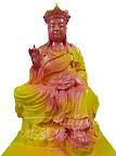 神像佛像的重新整理安金按金-慈悲地藏王菩薩整理-中間過程 -上膚色