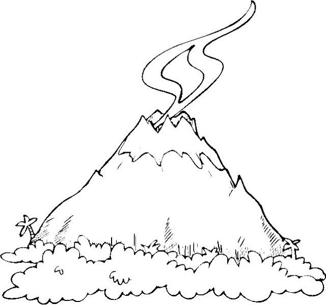Dibujos Para Colorear Volcanes