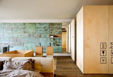 baño-incorporado-en-habitacion-Departamento-loft