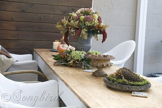 Fall Outside Decoration Garden Table