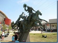 9705 Alberta Calgary Stampede 100th Anniversary - bronze sculpture – 'By the Banks of the Bow'