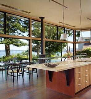 diseño cocina americana isla moderna