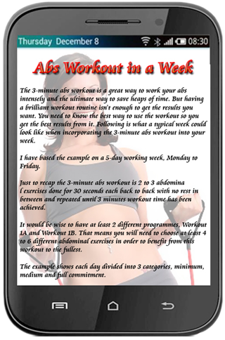 Abs Workout in a Week