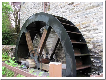The old mill in Killin. The waterwheel and associated gear have all been restored.
