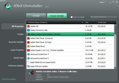 Alternative Uninstaller : IObit Uninstaller