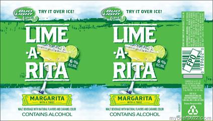 Anheuser-Busch Bud Light Lime-A-Rita 8oz Can (247 calories ...