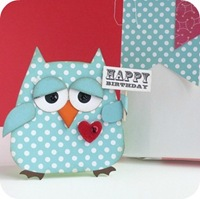 13-cafe-creativo - big shot- scrapbooking - biglietto card gufo owl