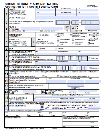 How to apply social security number in usa
