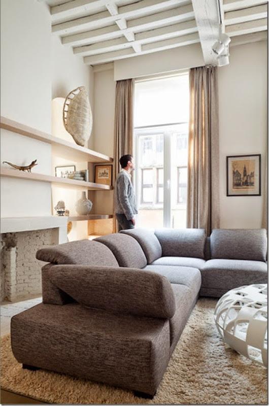 Uso del colore beige case e interni for Grigio e beige arredamento
