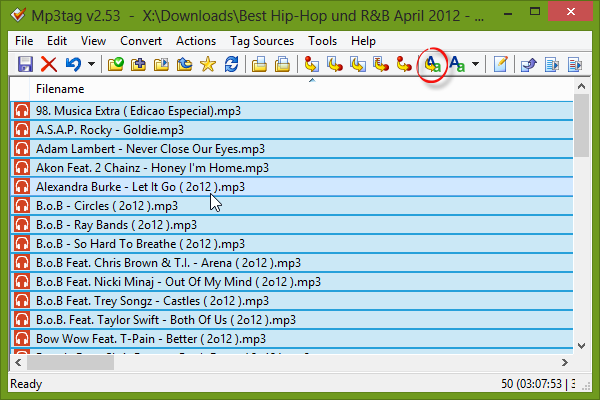 Mp3tag Filename with Year between parenthesis