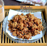 Millet flour onion pakoda recipe