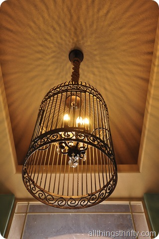 Restoration hardware birdcage chandelier the thrifty way all chandelier 051 mantle sign chandelier 056 aloadofball