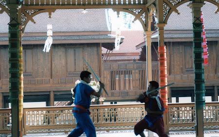 Imagini Bangkok: lupte traditionale Thailanda