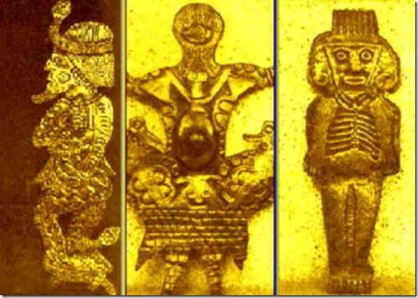 Estatuetas e adornos encontrados no Equador e guardados pelo Museu de Cuenca