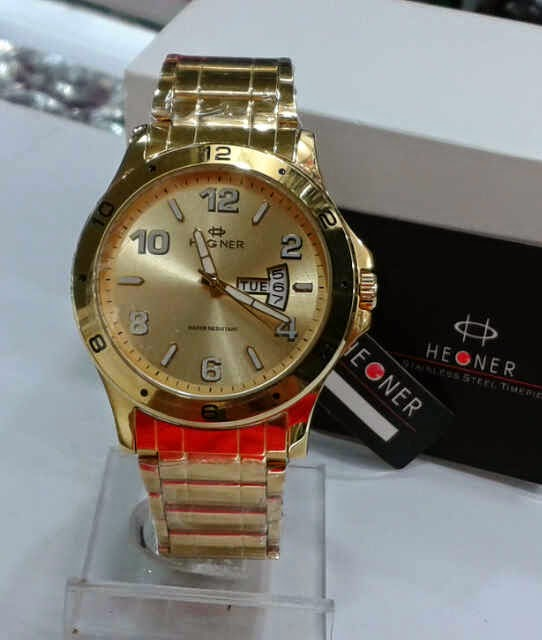 Jual Jam Tangan Hegner Gold date day All stell