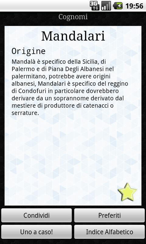 Significato Cognomi Italiani - screenshot