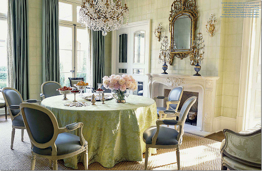 In The Same House, Suzanne Used Blue Leather On A Set Of Vintage Louis XVI  Styled Arm Chairs. So Pretty!