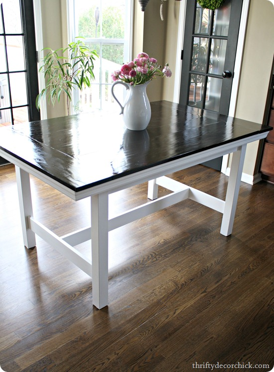 Ikea Table Turned Farmhouse From Thrifty Decor Chick