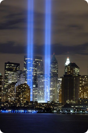 Memorial Tribute in light