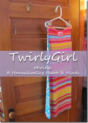 Easy Care, perfect for packing (or cramming into a girl's dresser) TwirlyGirl Dresses review at Homeschooling Hearts & Minds