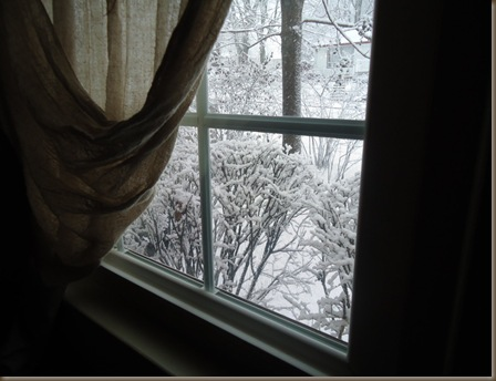 Snow out window 1