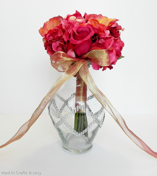 Crystal Vase to Display Wedding Bouquet