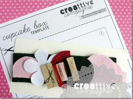 creattivecompagnie- cucito creativo - CUPCAKE BOX 2